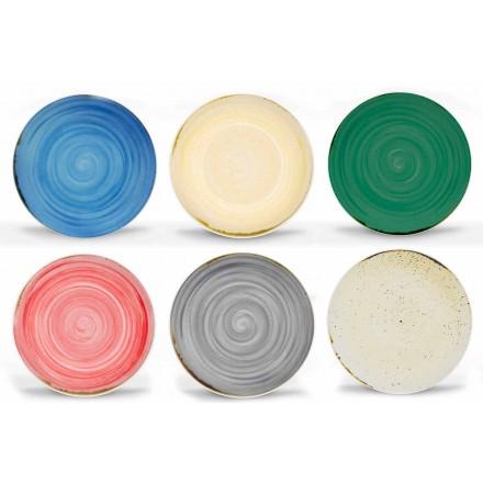 Serviço de Louça Moderna e Colorida em Porcelana 18 Peças - Rurolo