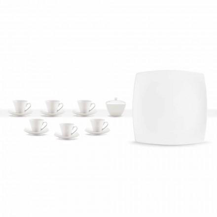 Copos de café em porcelana branca serviço Design moderno 8 peças - Duomo