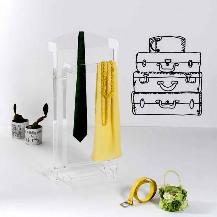 Cabide design moderno feito de plexiglass transparente Mose