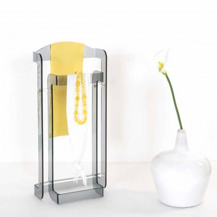 Cabide design moderno feito de pose Fumé plexiglass, feito na Itália