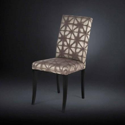 Conjunto de duas cadeiras estofadas Audrey, com pernas pretas