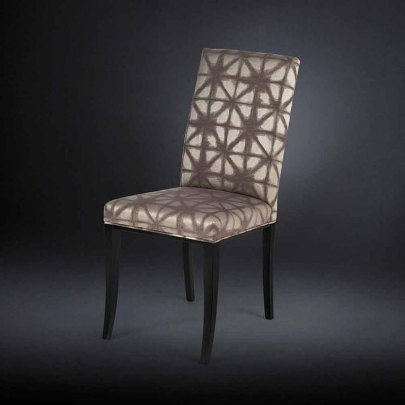02 de setembro estofados modernas cadeiras com pernas de madeira em preto Audrey