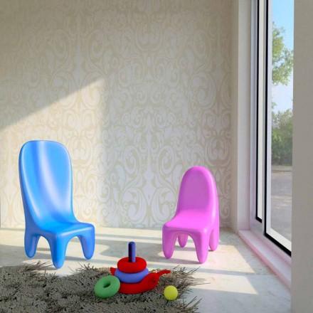 Cadeira de design moderno para crianças Loriblanche, conjunto de 2, fabricado na Itália