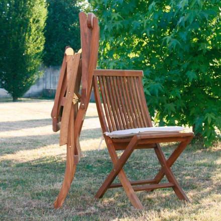 Cadeiras dobráveis de madeira de teca para jardim