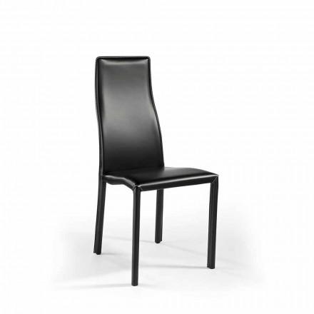 Conjunto de 2 cadeiras de couro para escritório / sala de jantar