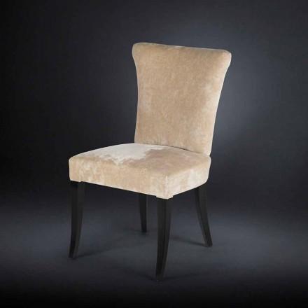 Conjunto de duas cadeiras estofadas Dita, cor crua, estilo belle époque
