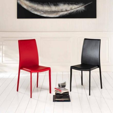 Conjunto de 4 cadeiras modernas de couro ecológico Gioia
