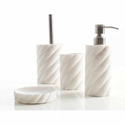 Conjunto de design de acessórios de banheiro em mármore de Calacatta Monza