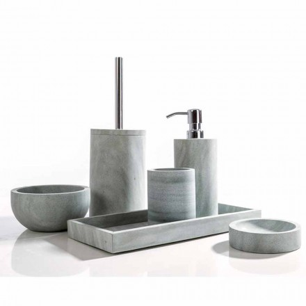 Moderna casa de banho conjunto de acessórios em pedra cinza Montale