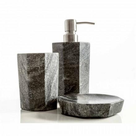 Moderna casa de banho conjunto de acessórios em mármore cinza veado Montafia