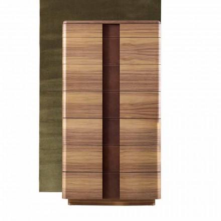 Design moderno cômoda de madeira maciça Grilli York fez 100% na Itália