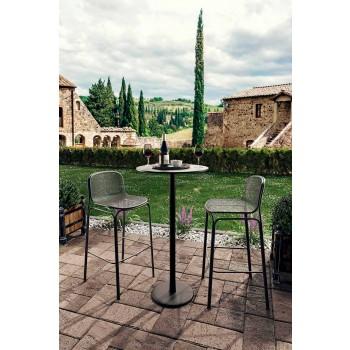 Banquetas altas altas de metal empilháveis fabricadas na Itália, 2 peças - Viviette
