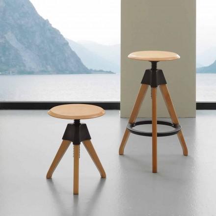 Banquinho de rosca design moderno Sit, with polypropylene details