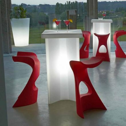 Banqueta alta colorida para exterior / interior Slide Koncord, fabricada em Itália