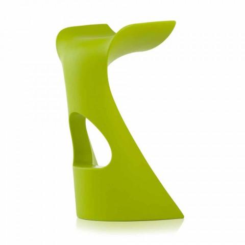 Banquinho alto colorido Slide Koncord design moderno feito na Itália
