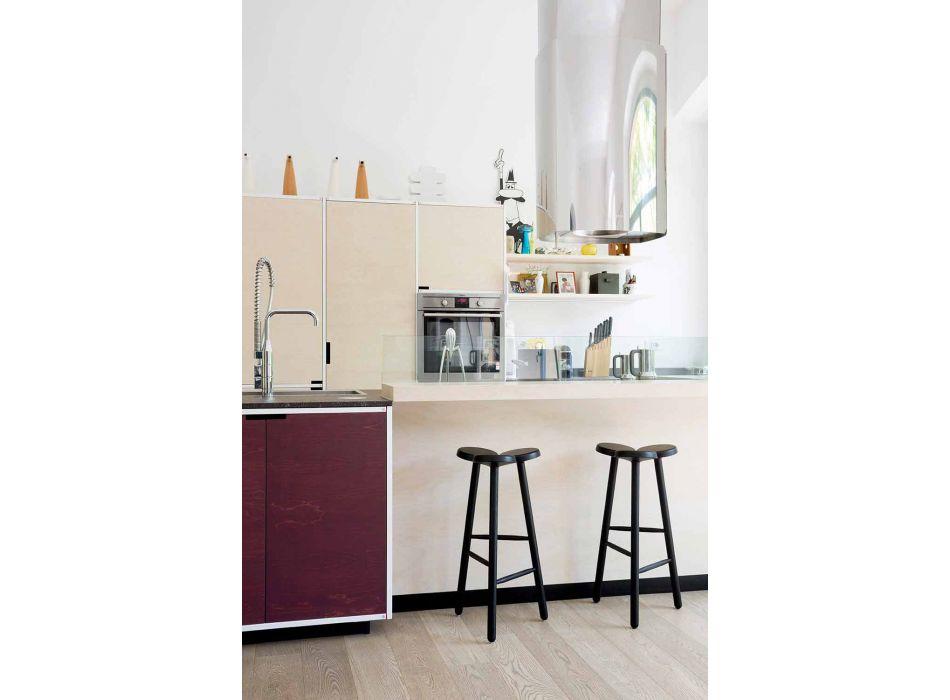 Banco alto de bar ou balcão de cozinha em cinzas Made in Italy - Lottie