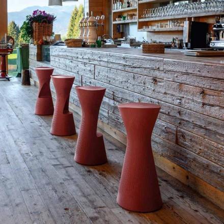 Banqueta alta para jardím em polietileno colorido Made in Italy - Desmond