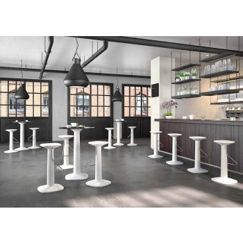 Banqueta High Design em Polietileno e Aço Inoxidável Fabricado na Itália - Pito