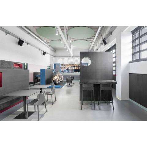 Banquinho alto design para exteriores em alumínio Made in Italy - Dobla