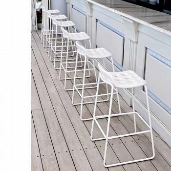 Banco Altoo Design em Plástico Branco para Cozinha 2 Peças - Chips by Myyour