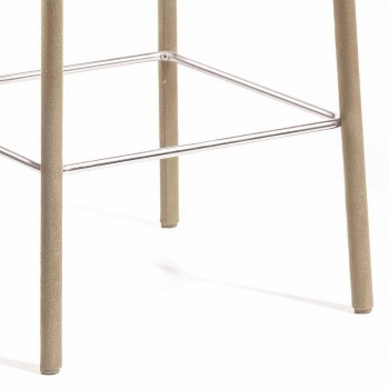 Tamborete de design moderno Amos, feito à mão na Itália