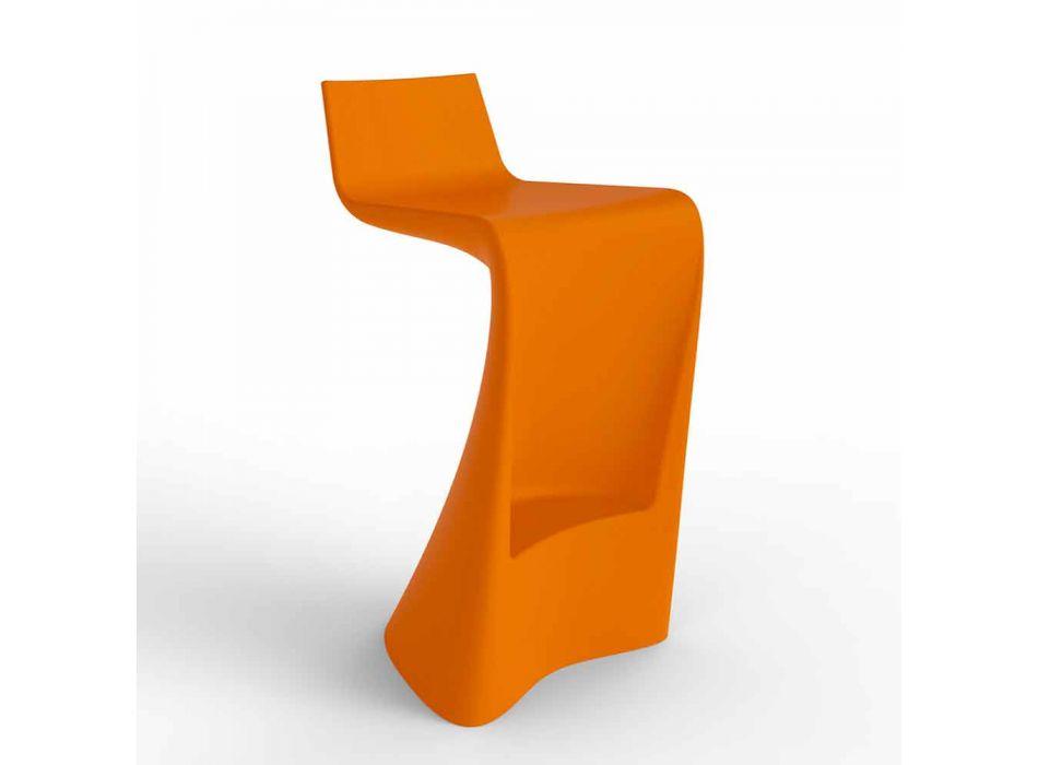 Bancada de bar de design moderno Wing Vondom em polietileno