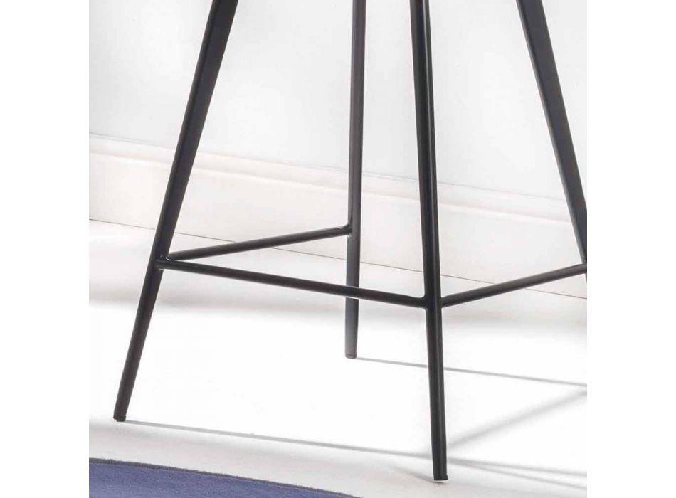 Banco com base de 4 pernas, H 65 em couro sintético com efeito de couro sintético - Ovídio