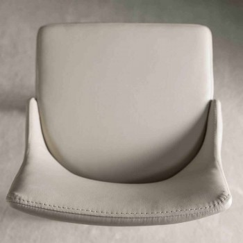 Banqueta com encosto, base de metal design - Berenice