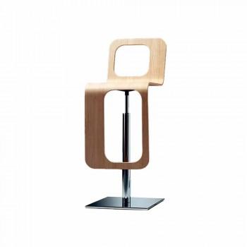 Banco de cozinha de design moderno em madeira de carvalho e metal - Signorotto