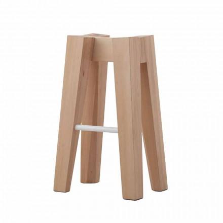 Tamborete de cozinha de madeira maciça de design alto ou baixo - Cirico
