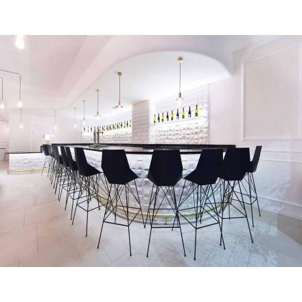 Banqueta moderna Faz by Vondom, em polipropileno e aço inoxidável, 4 pedaços