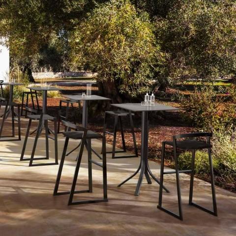 Banqueta Externa em Alumínio Design para Bar ou Cozinha, 3 Acabamentos - Filomena