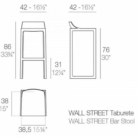 Banco ao ar livre de Wall Street Vondom, polipropileno e fibra de vidro