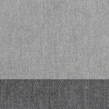 Banqueta de Sala Design em Tecido com Borda e Metal Antracite - Scarat