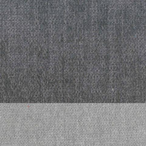 Banquinho para sala de estar elegante em tecido com borda - Scarat