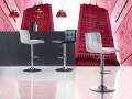 Banqueta de elevação com design moderno, assento de couro ecológico - Delfina