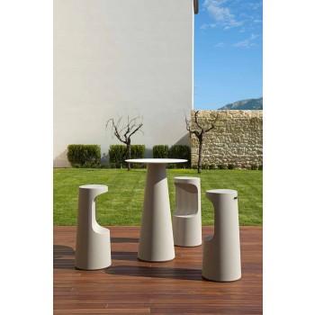 Banqueta High Design em Polietileno Mate para Exteriores Fabricado na Itália - Forlina