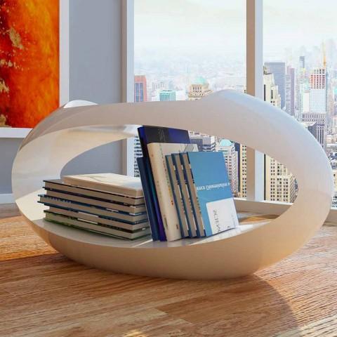 Banqueta design com biblioteca integrada Ellix made in Italy