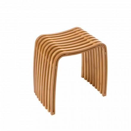 Stoll de banheiro de design produzido em bambu curvado quente Gorizia