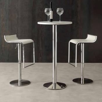Banqueta de design moderno, forrada em couro ecológico - Arbore