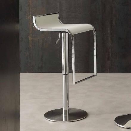 Banqueta de design moderno, revestida em couro ecológico - Arbore