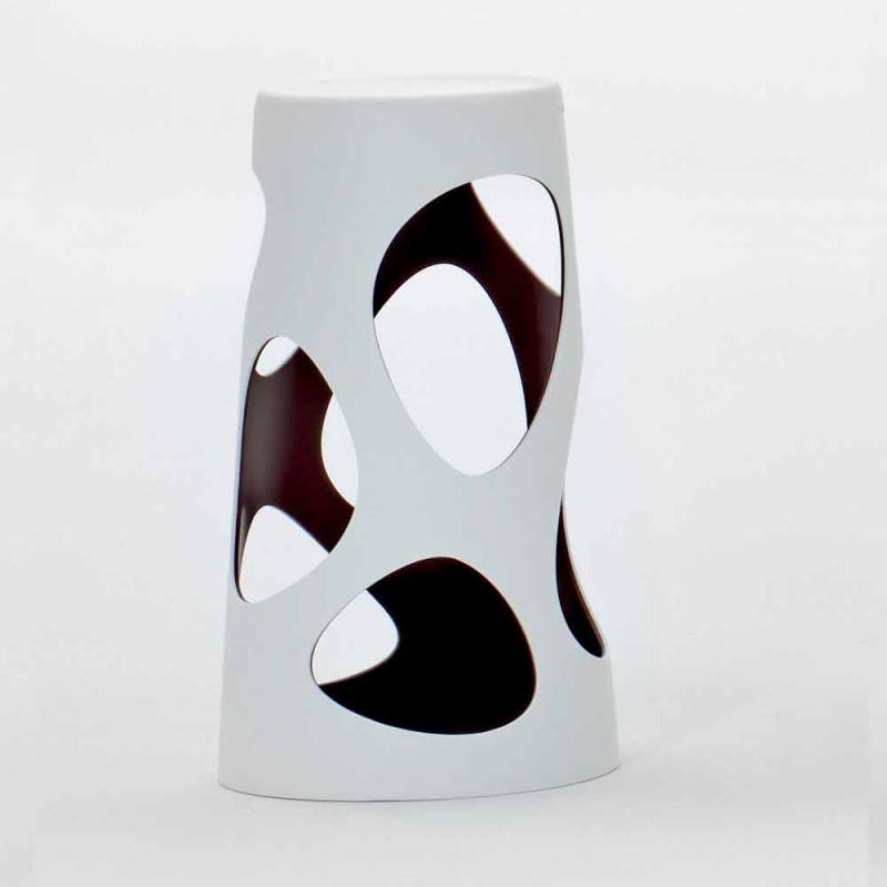 Banquinho empilhável para ambientes externos ou internos branco ou preto 2 peças - Liberty by Myyour