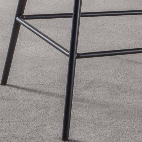 Banqueta Fixa H 65 cm, Estrutura com 4 Pernas de Metal - Ines