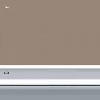 Banqueta fixa de couro sintético, design moderno H 65 cm - Alina