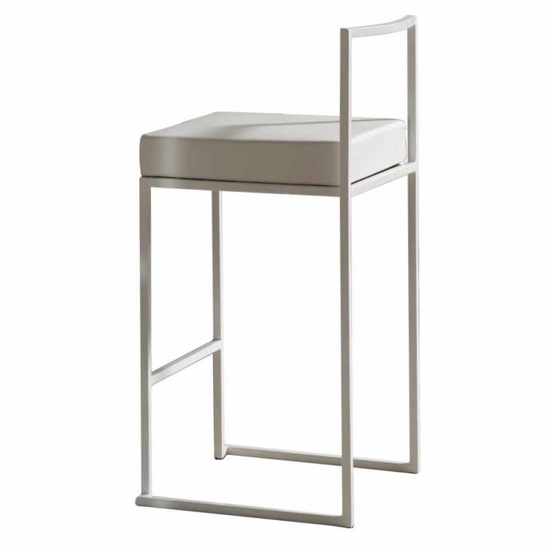 Banco Fixo Eco-Couro, Design Moderno H 65 cm - Alina