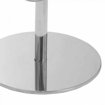 Banqueta giratória com encosto de design moderno Gord, H 113 cm