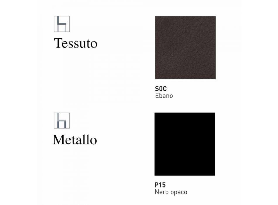 Banco giratório estofado Couro e Metal Vintage estofado Made in Italy - Nova York