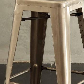 Banqueta de metal H 74 cm, Desenho industrial - Giuditta