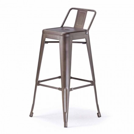 Banqueta de metal H 74 cm, Design industrial - Giuditta