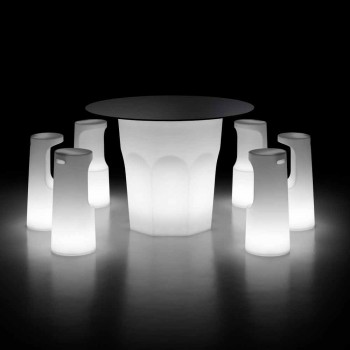 Banqueta Externa Luminosa em Polietileno com Luz LED Made in Italy - Forlina